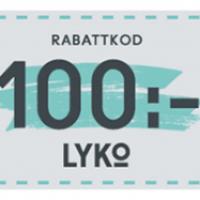 Lyko 100kr rabattkod (gäller även hela 2019)